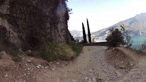 Cyklotrasy v severní části jezera Lago di Garda - město Riva del Garda