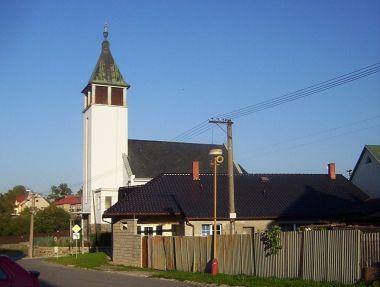 Velká Bystřice-kostel husitské církve ze Svésedlické ulice-Foto:Ulrych Mir.