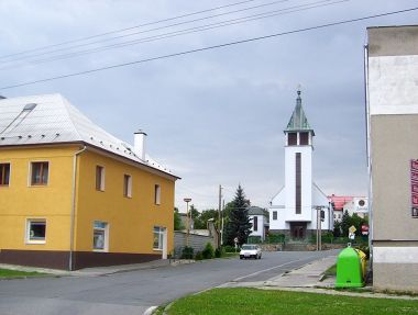 Velká Bystřice-kostel církve husitské-Foto:Ulrych Mir.