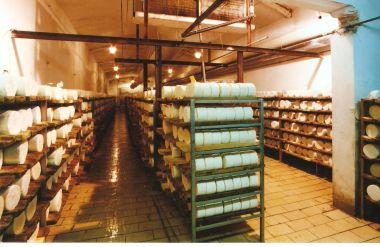 Jeskyně Michálka - místnost pro zrání sýrů, snímek je z roku 1999