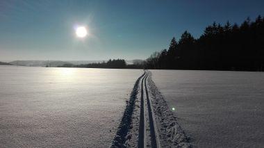 fotka k příspěvku Zimní Vysočinou na běžkách - okruh kolem Humpolce a Lipnice nad Sázavou.