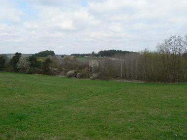 Pohled k severu ze silnice k Mlýnskému rybníku