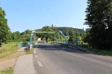 Rabí, pohled od mostu přes Otavu