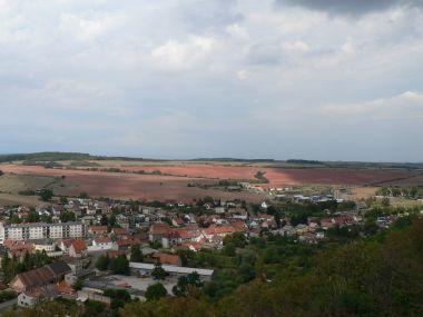 Kostelní vrch, pohled od rozhledny k západu