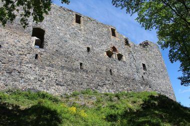 Radyně, jižní stěna hradu