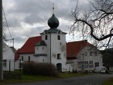 Hory Matky Boží, kostel z jiné strany