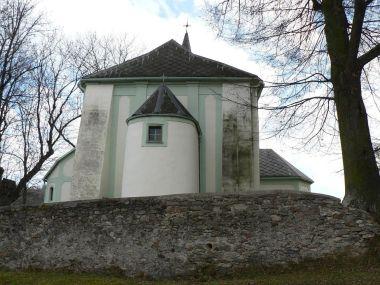Dlouhá Ves, zadní část kostela