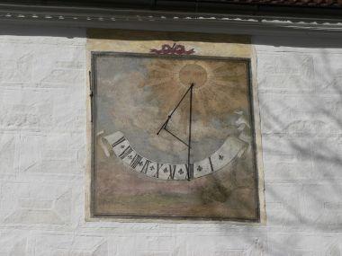 Žichovice zámek, sluneční hodiny