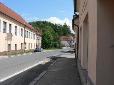 Kolinec, horní část náměstí