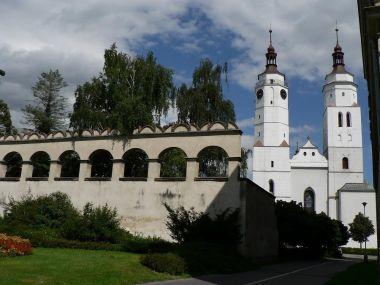 Krnov, kostel sv. Martina a Švédská zeď