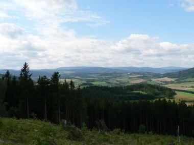 Pohled z hory Červ na Šumavu