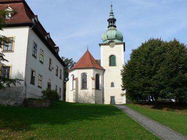 Jiřetín pod Jedlovou, věž a presbytář kostela