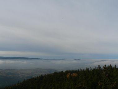 Sedlo, pohled z rozhledny k severozápadu