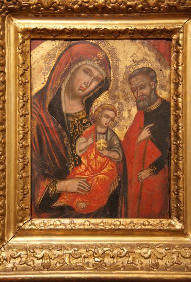 obraz sv. Rodiny neznámého autora ze zábřežského muzea (18. stol.)