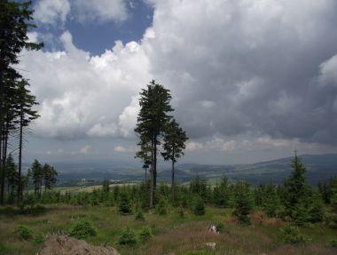 pod vrcholem Jeřábu ... s výhledem na Hedeč