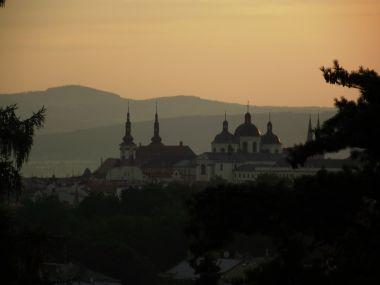 ranní výhled na Olomouc
