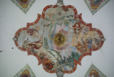 freska klenby chrámové lodi