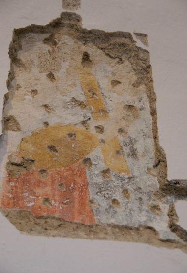 detail odkryté fresky
