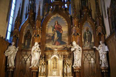 detail hl. oltáře kostela sv. Kateřiny