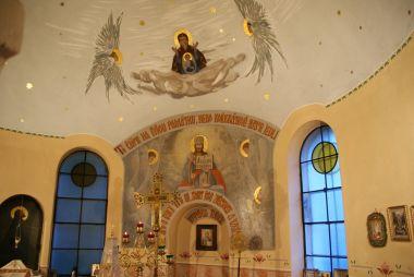 pohled za ikonostas sv. Gorazda