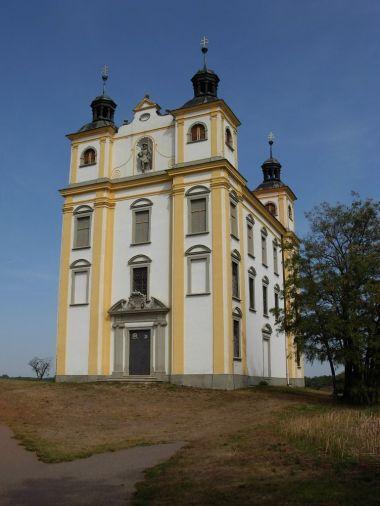 Barokní kostel sv.Floriana nad Moravským Krumlovem