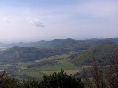 pohled z Milešovky
