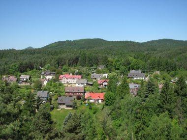 výhled z Havrana na Polesí a Liščí horu