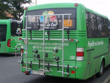 Držáky na kola na autobuse