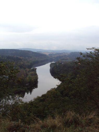 výhled na Vltavu od rozhledny
