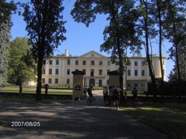vyhořený zámek Zahrádky
