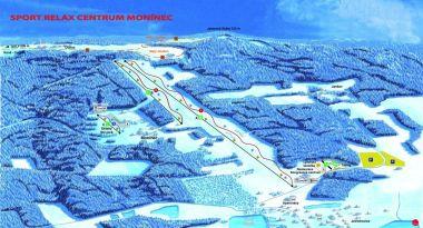 Mapa - ski areál Monínec