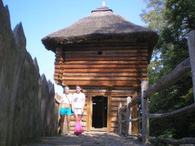 Vyhlídka v archeo parku v Netolicích