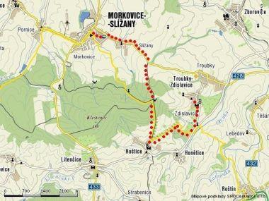 Morkovice a Zdislavice v mapě