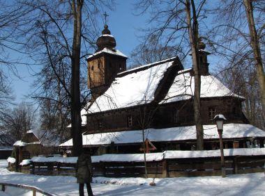 Muzeum v přírodě - dřevěné městečko
