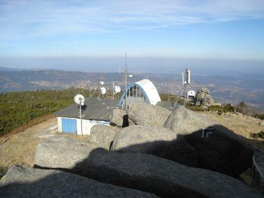 Meteorologická stanice těsně pod vrcholem Szrenica