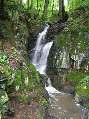 vodopád na Moravanském potoce