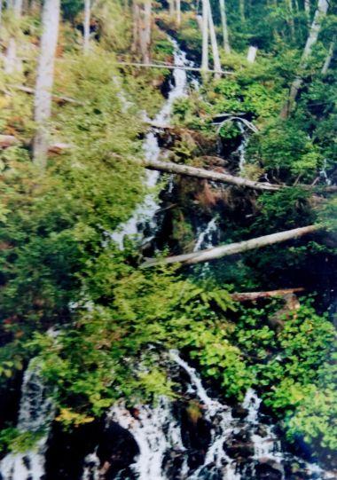 umělý vodopád v K. Studánce