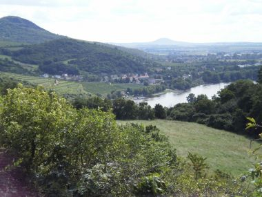 pohled na údolí Labe