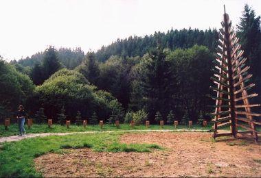Lesnícky skanzen: Vstuplní expozice - lesy v EU