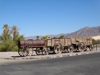 Death Valley Furnace Creek tím se vozil borax