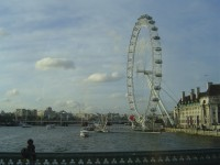 London Eye - pohled z Westminster Bridge