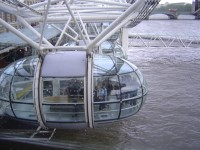 London Eye - začínáme stoupat