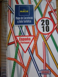 Mapa Carreteras y Guía Turística, Espana, Portugal, 2010, Editorial Everest, s. a.