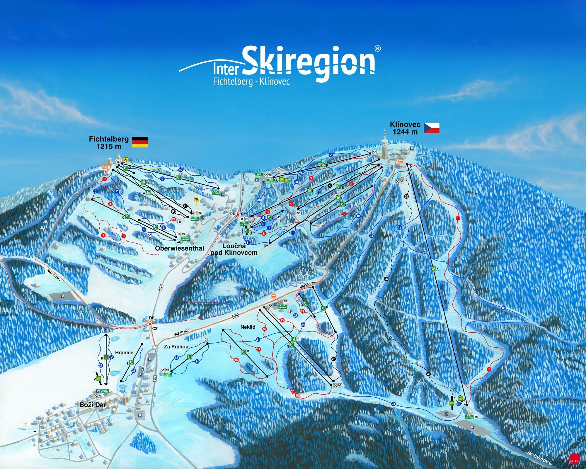Ski Areal Klinovec Ski Areal Turistika Cz